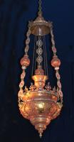 Lampada  rame dorato, corallo e smalti Fra Matteo Bavera 1633